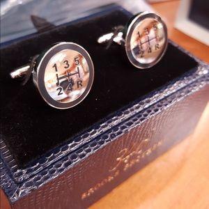 Brooks Brothers Silver Gear Shifter Cufflinks